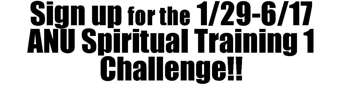 Anu Spiritual Training Phase 1 Challenge